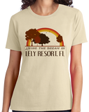 Ladies Natural Living the Dream in Lely Resort, FL | Retro Unisex  T-shirt
