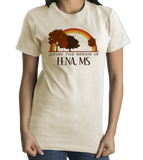 Standard Natural Living the Dream in Lena, MS | Retro Unisex  T-shirt