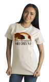 Standard Natural Living the Dream in Milford, NJ | Retro Unisex  T-shirt