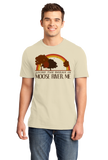 Standard Natural Living the Dream in Moose River, ME | Retro Unisex  T-shirt
