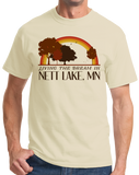 Standard Natural Living the Dream in Nett Lake, MN | Retro Unisex  T-shirt