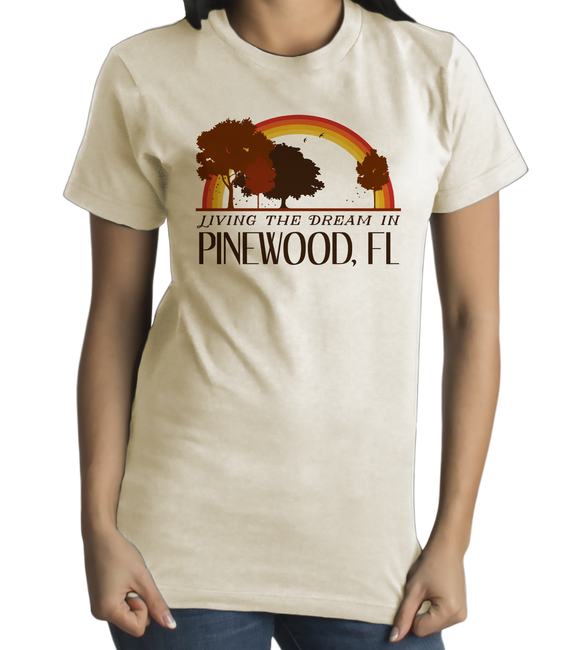 Standard Natural Living the Dream in Pinewood, FL | Retro Unisex  T-shirt