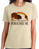 Ladies Natural Living the Dream in Portland, ME | Retro Unisex  T-shirt