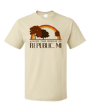 Standard Natural Living the Dream in Republic, MI | Retro Unisex  T-shirt