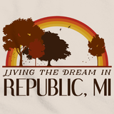 Living the Dream in Republic, MI | Retro Unisex