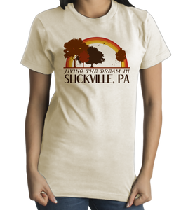 Standard Natural Living the Dream in Slickville, PA | Retro Unisex  T-shirt