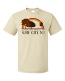 Standard Natural Living the Dream in Surf City, NJ | Retro Unisex  T-shirt