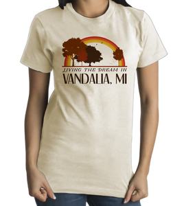 Standard Natural Living the Dream in Vandalia, MI | Retro Unisex  T-shirt