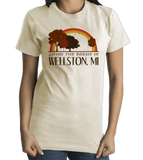Standard Natural Living the Dream in Wellston, MI | Retro Unisex  T-shirt