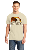 Standard Natural Living the Dream in West Paris, ME | Retro Unisex  T-shirt