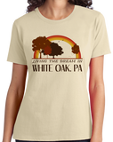 Ladies Natural Living the Dream in White Oak, PA | Retro Unisex  T-shirt