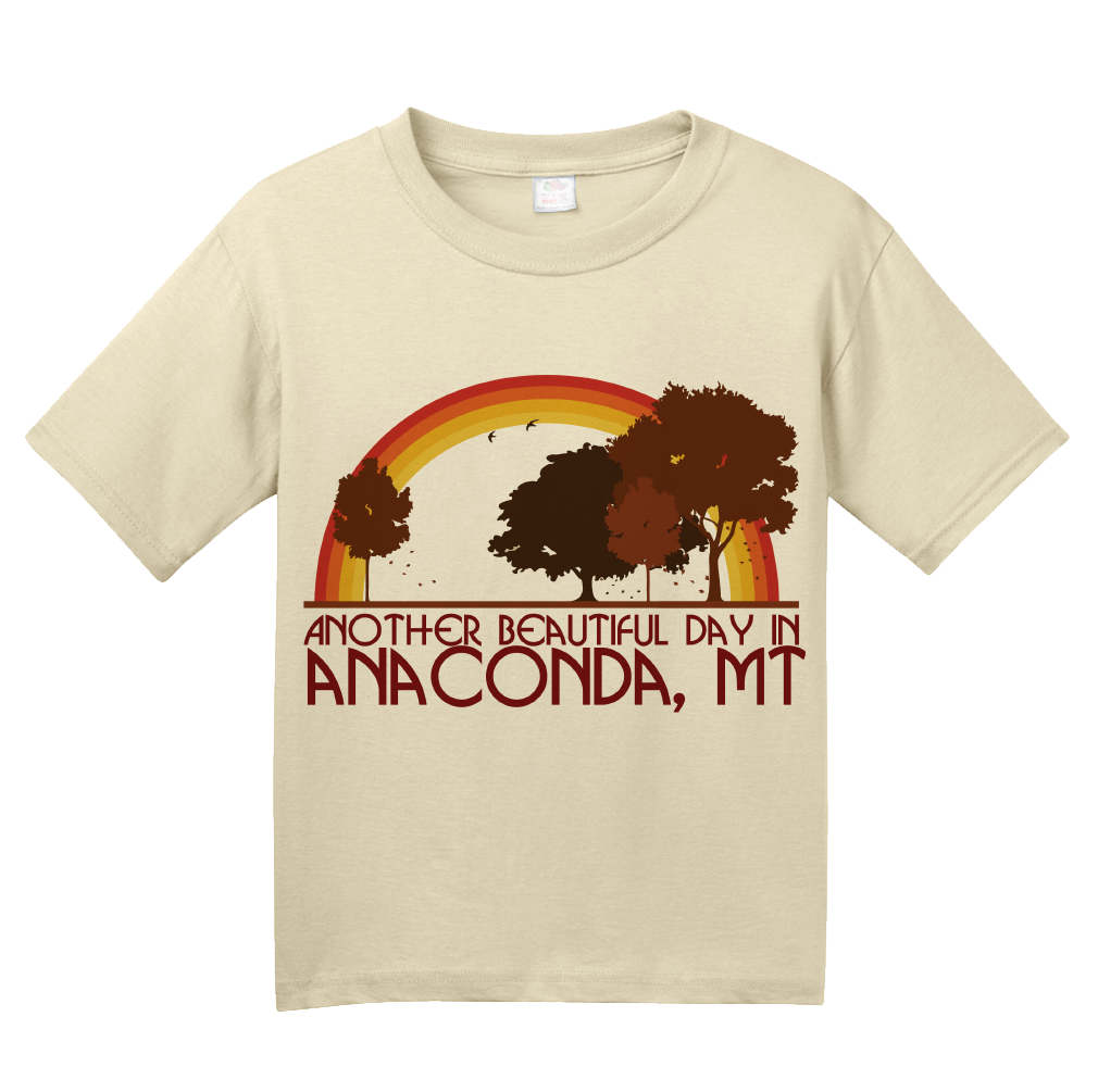 "Youth Natural ""Another Beautiful Day In Anaconda, Montana"" T-shirt"