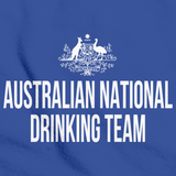 AUSTRALIAN NATIONAL DRINKING TEAM Royal Blue art preview