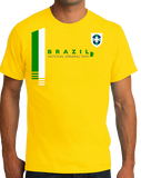 Standard Yellow Brazil National Drinking Team - Brazilian Soccer Funny Football T-shirt