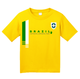 Youth Yellow Brazil National Drinking Team - Brazilian Soccer Funny Football T-shirt