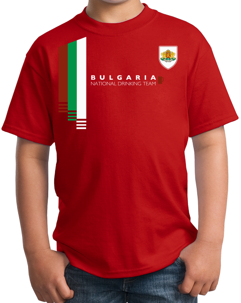 Youth Red Bulgaria National Drinking Team - Bulgarian Soccer Football T-shirt