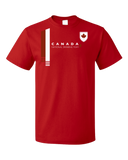 Standard Red Canada National Drinking Team - Canadian Soccer Football Funny T-shirt