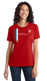 Ladies Red Czech Republic National Drinking Team - Czech Soccer Football T-shirt
