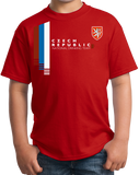 Youth Red Czech Republic National Drinking Team - Czech Soccer Football T-shirt