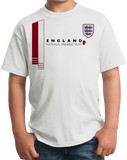 Youth White England National Drinking Team - English Soccer Football Pub T-shirt
