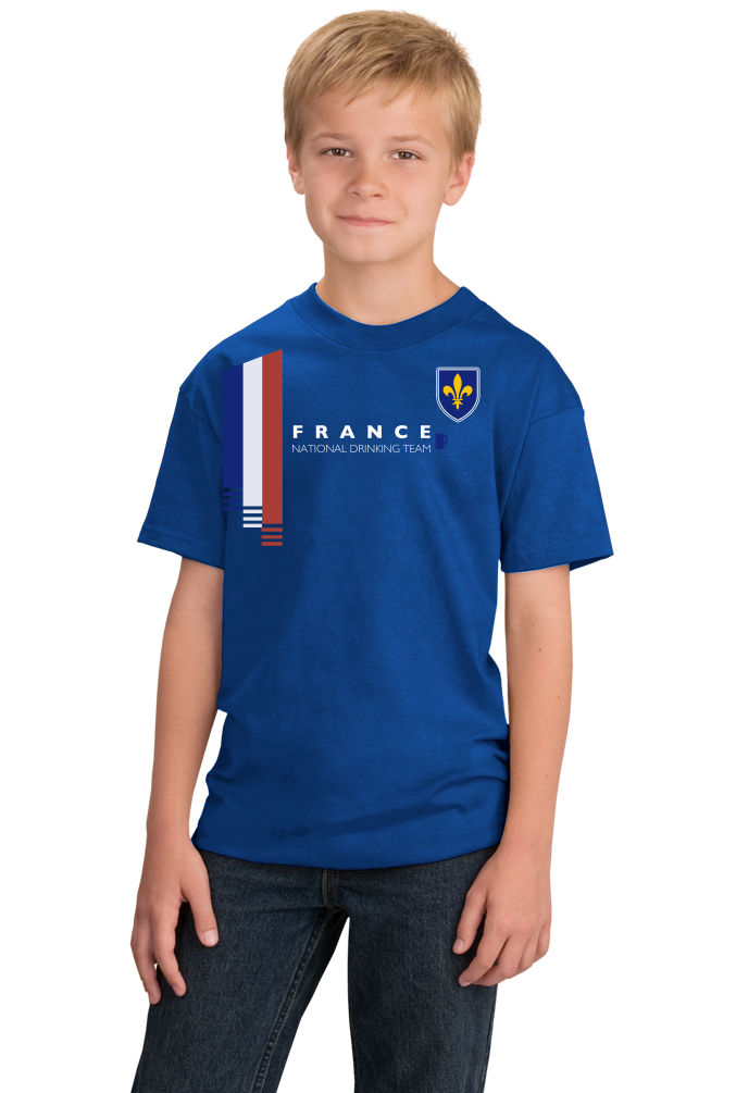 Youth Royal France National Drinking Team - French Football Soccer Funny T-shirt