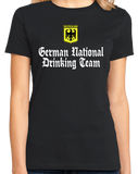 Ladies Black German National Drinking Team - Germany Soccer Football T-shirt