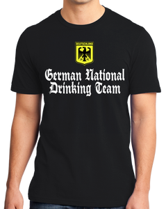 Standard Black German National Drinking Team - Germany Soccer Football T-shirt