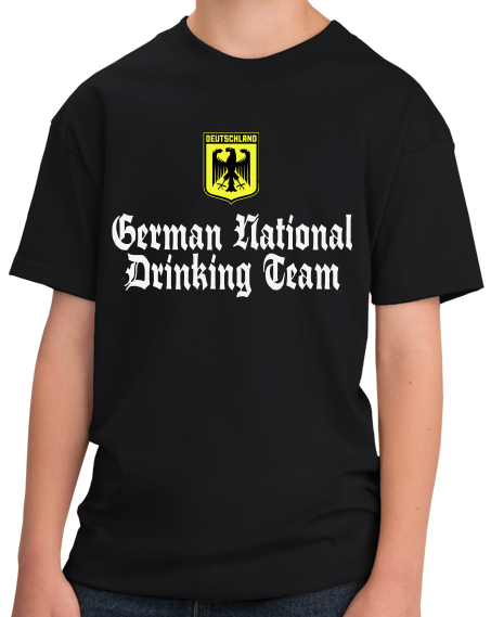 Youth Black German National Drinking Team - Germany Soccer Football T-shirt