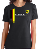 Ladies Black Germany National Drinking Team - German Soccer Football T-shirt