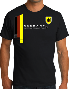 Standard Black Germany National Drinking Team - German Soccer Football T-shirt
