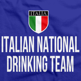 ITALIAN NATIONAL DRINKING TEAM Royal Blue art preview