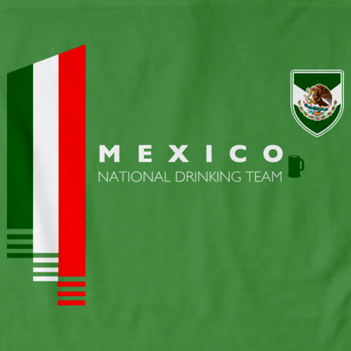 2c70c04f3 ... Mexican Soccer Futbol Funny T-shirt · Mexico National Drinking Team  Green art preview