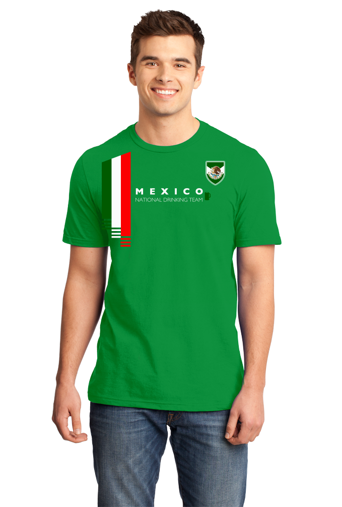 e8ee84fcc ... Standard Green Mexico National Drinking Team - Mexican Soccer Futbol  Funny T-shirt ...