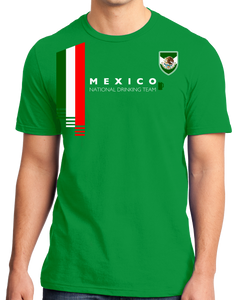 1573bf232 Standard Green Mexico National Drinking Team - Mexican Soccer Futbol Funny T -shirt