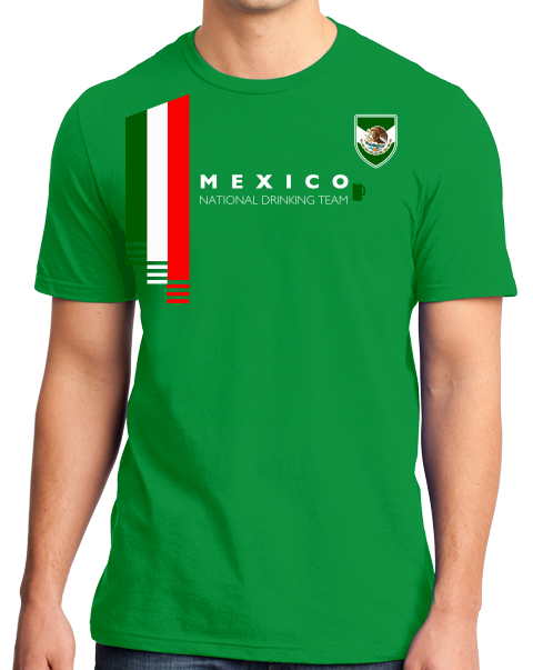 Standard Green Mexico National Drinking Team - Mexican Soccer Futbol Funny T -shirt ... 2c4f508b630f