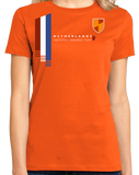 Ladies Orange Netherlands National Drinking Team - Dutch Soccer Football T-shirt