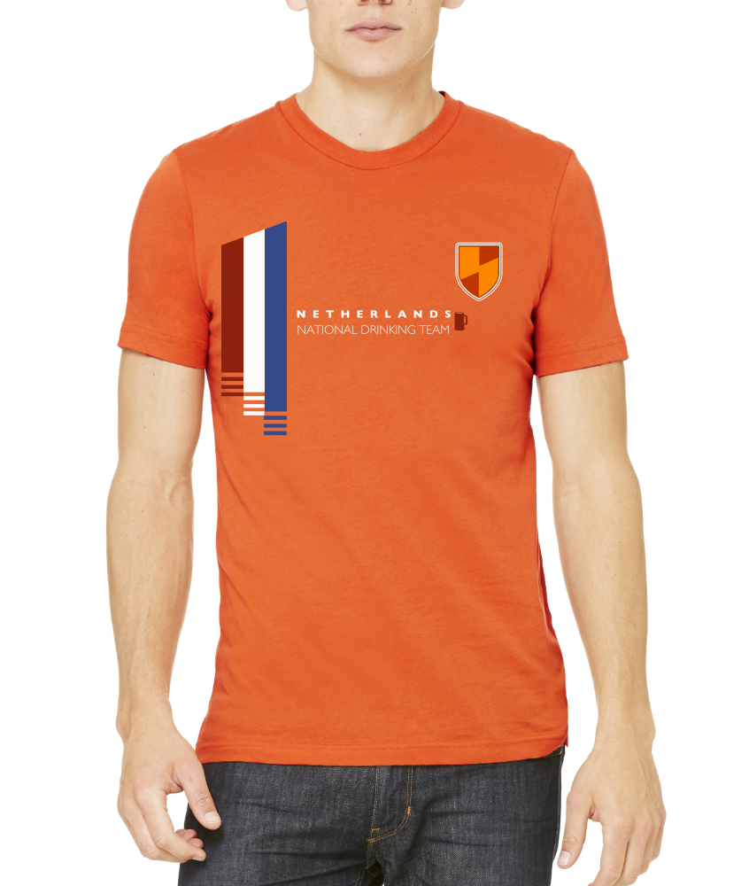 Standard Orange Netherlands National Drinking Team - Dutch Soccer Football T-shirt