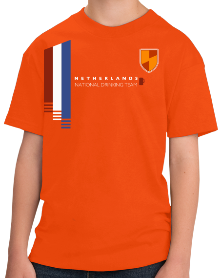 Youth Orange Netherlands National Drinking Team - Dutch Soccer Football T-shirt
