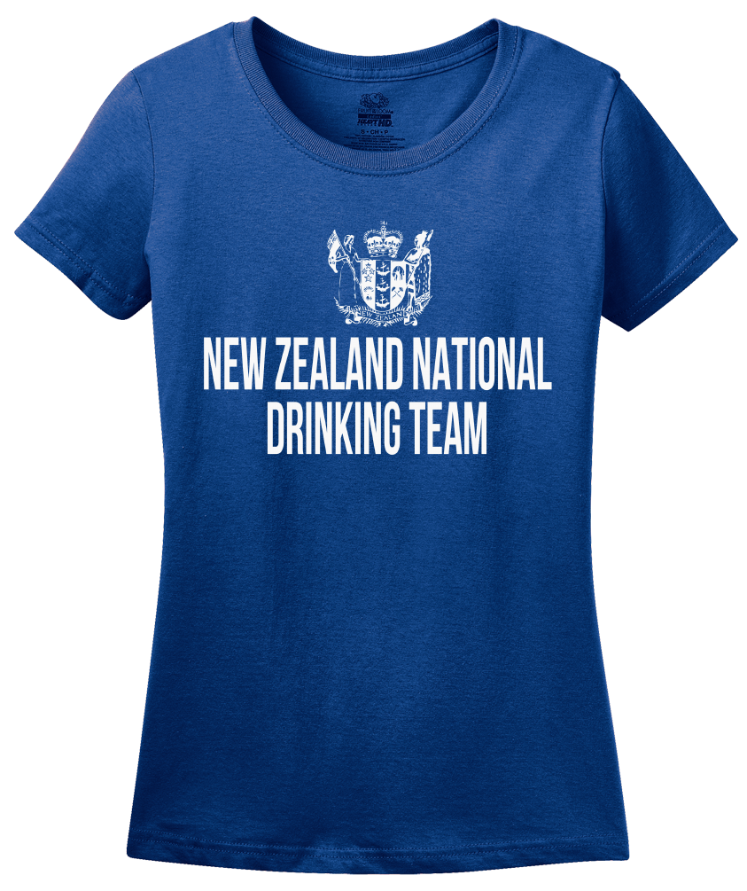 Ladies Royal New Zealand National Drinking Team - Kiwi Pride Football Soccer T-shirt