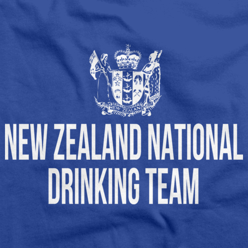 NEW ZEALAND NATIONAL DRINKING TEAM Royal Blue art preview