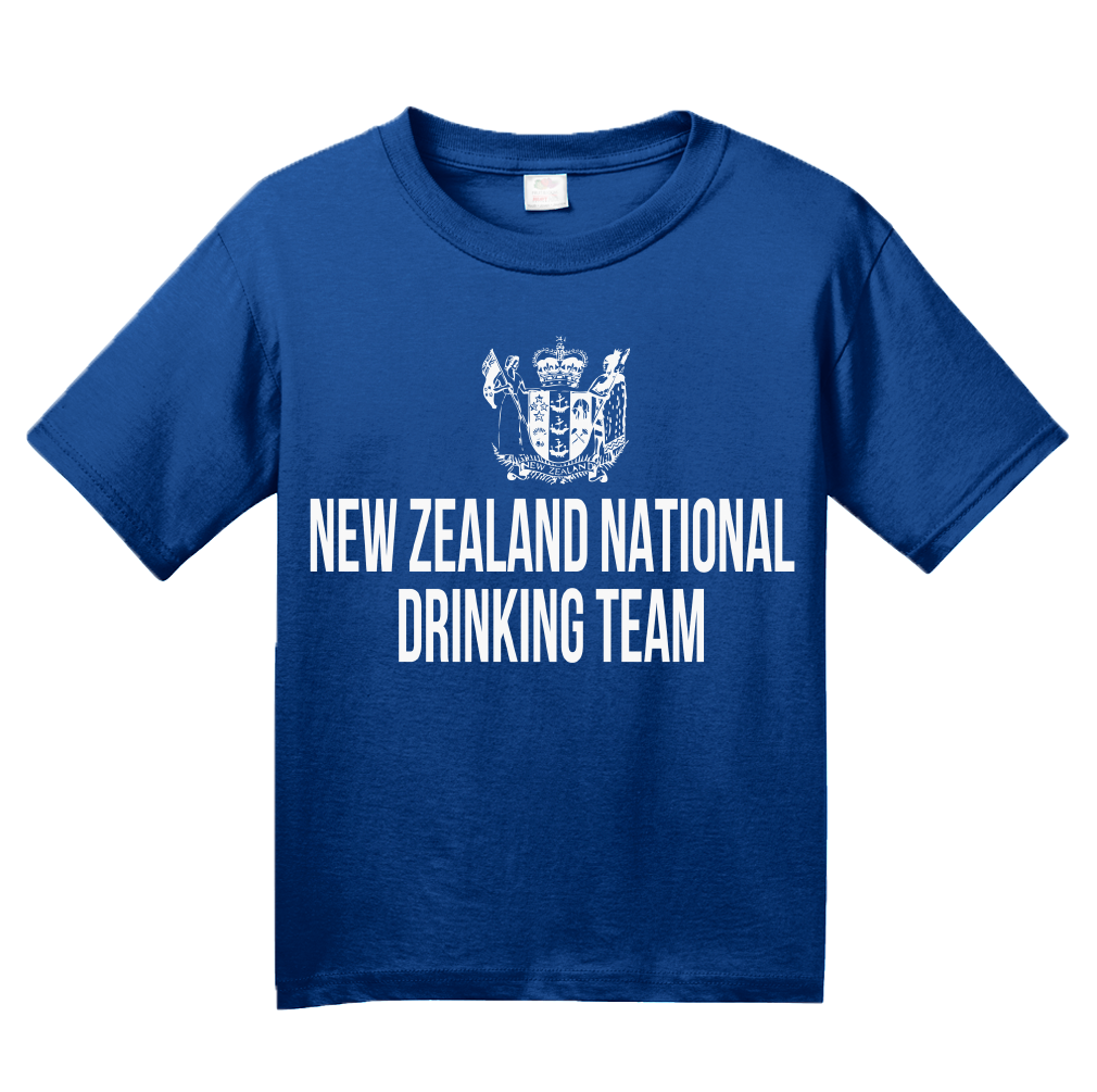 Youth Royal New Zealand National Drinking Team - Kiwi Pride Football Soccer T-shirt