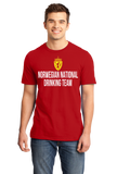 Standard Red Norwegian National Drinking Team - Norway Soccer Football T-shirt