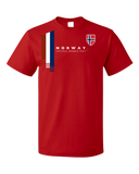 Standard Red Norway National Drinking Team - Norwegian Soccer Football T-shirt