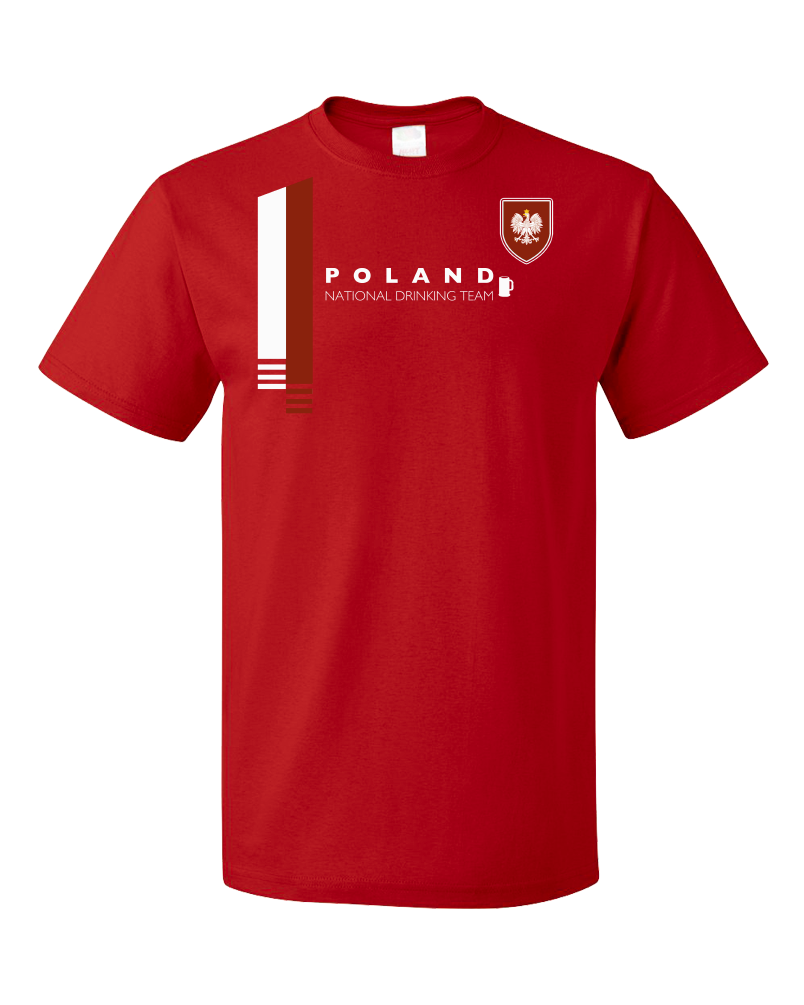 Standard Red Poland National Drinking Team - Polish Soccer Football Funny T-shirt