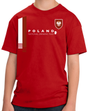 Youth Red Poland National Drinking Team - Polish Soccer Football Funny T-shirt