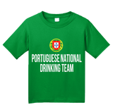 Youth Green Portuguese National Drinking Team - Portugal Soccer Futebol T-shirt