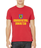 Standard Red Romanian National Drinking Team - Romania Soccer Football T-shirt