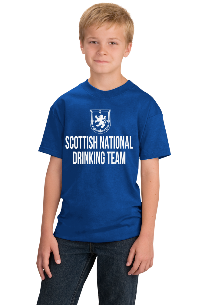 Youth Royal Scottish National Drinking Team - Scotland Football Soccer Pub T-shirt