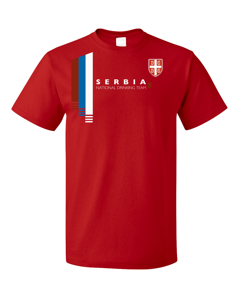 c804a8bd3 Standard Red Serbia National Drinking Team - Serbian Soccer Football Fan T- shirt ...
