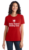 Ladies Red Swiss National Drinking Team - Switzerland Soccer Football Fan T-shirt